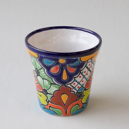 Bloempot aardewerk tuin tuinaccessoires handbeschilderd decoratie kleurrijk