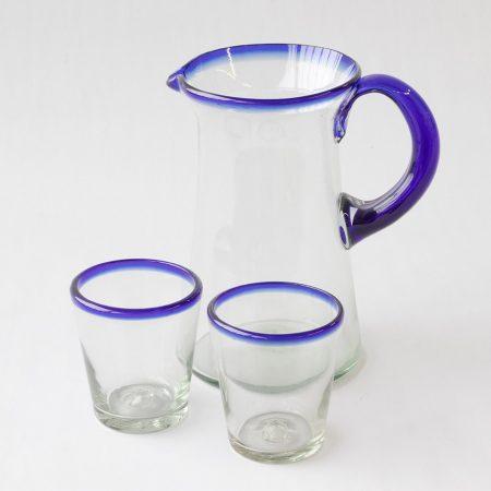 Mondgeblazen recycled glas handwerk wonen tafelen mexico