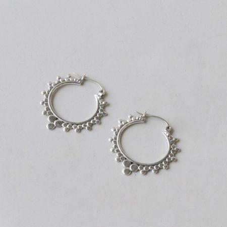 904392-creool-zilver-bubbels-2,8cm-sterling-cadeau-mexico-fairtrade-duurzaam